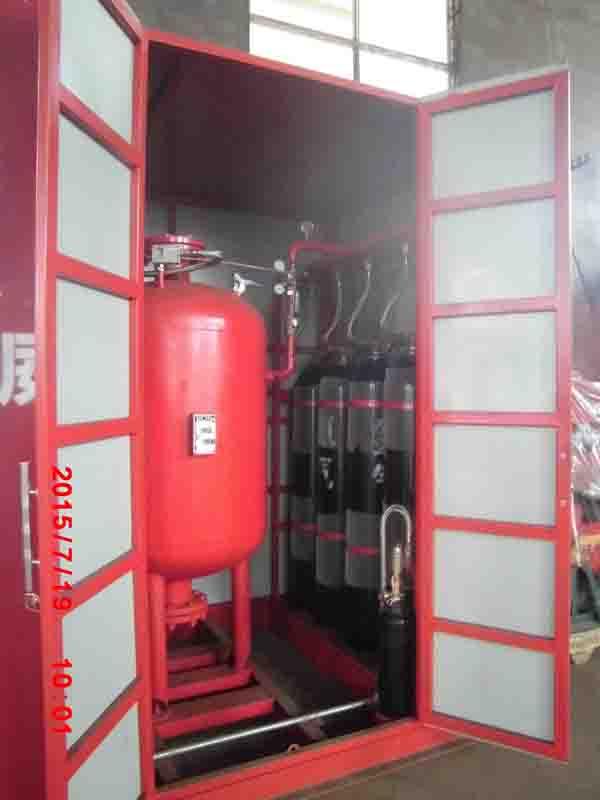 发往任丘市华北油田龙泰消防有限公司的干粉灭火系统的列车已经起航,一路顺风